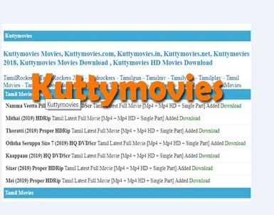 Kuttymovies Download Tamil Malayalam Hollywood Dubbed Movies Latest Song Lyrics And News