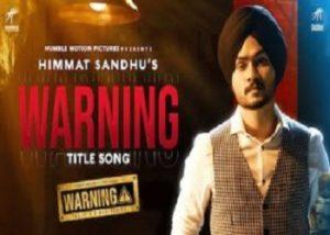Warning Lyrics Himmat Sandhu Happy Raikoti